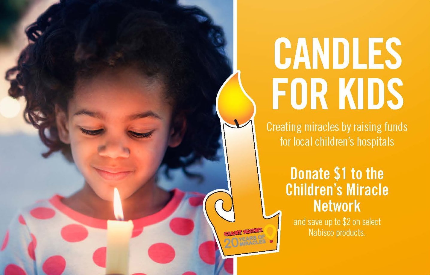 Candles For Kids Campaign Begins November 20 Giant Food Stores